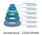 vector infographic design with...   Shutterstock .eps vector #1224135568