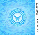 crossed pistols icon inside...   Shutterstock .eps vector #1224137872