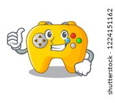 thumbs up video game controller ... | Shutterstock .eps vector #1224151162