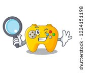 detective video game controller ... | Shutterstock .eps vector #1224151198