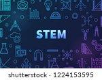 science  technology ... | Shutterstock .eps vector #1224153595