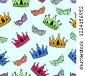 crown pattern background design | Shutterstock .eps vector #1224156952