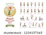female clerk in the office... | Shutterstock .eps vector #1224157165