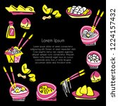 chinese food vector concept.... | Shutterstock .eps vector #1224157432