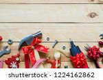 merry christmas and happy new... | Shutterstock . vector #1224162862