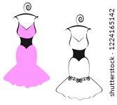 wedding dress design  isolated...   Shutterstock . vector #1224165142