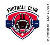 american football emblem... | Shutterstock .eps vector #1224167095