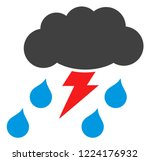 thunderstorm icon on a white... | Shutterstock .eps vector #1224176932