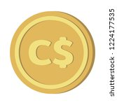 currency icon coin   canadian... | Shutterstock .eps vector #1224177535