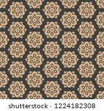 vector damask seamless retro...   Shutterstock .eps vector #1224182308