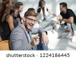 young entrepreneur pointing at... | Shutterstock . vector #1224186445