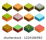 isometric soil layers diagram.... | Shutterstock .eps vector #1224186982
