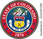 coat of arms of colorado in... | Shutterstock .eps vector #1224187285