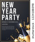 new year party poster template. ... | Shutterstock .eps vector #1224188398