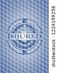 injured blue emblem or badge... | Shutterstock .eps vector #1224199258
