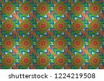 abstract tiles with patterns in ... | Shutterstock . vector #1224219508