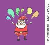 cute santa claus cartoon...   Shutterstock .eps vector #1224219772