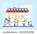 planning and organization of... | Shutterstock .eps vector #1224222058