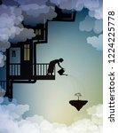 scene on the dreamland  house... | Shutterstock .eps vector #1224225778