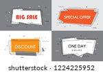 big sale  discount  special... | Shutterstock .eps vector #1224225952