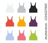tank top flat icon. you can be... | Shutterstock .eps vector #1224227005