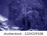 crumpled transparent plastic ...   Shutterstock . vector #1224229108