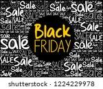 black friday sale word cloud...   Shutterstock .eps vector #1224229978