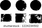 grunge post stamps collection ... | Shutterstock .eps vector #1224234502