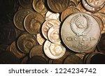 old ussr vintage money... | Shutterstock . vector #1224234742