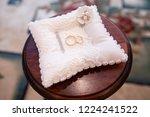 pair of gold rings for wedding... | Shutterstock . vector #1224241522