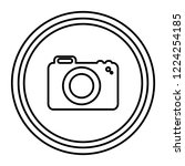 photographic camera isolated... | Shutterstock .eps vector #1224254185