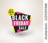 black friday sale sticker.... | Shutterstock .eps vector #1224254368