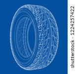 car tire concept. vector... | Shutterstock .eps vector #1224257422