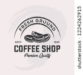 coffee shop label with retro... | Shutterstock .eps vector #1224262915
