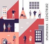 business people   flat design... | Shutterstock . vector #1224278182