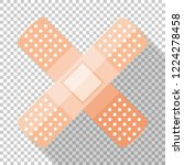 adhesive plaster or sticking... | Shutterstock .eps vector #1224278458