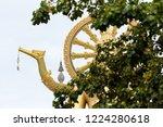 big golden buddha statue... | Shutterstock . vector #1224280618