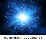 shards of broken glass.... | Shutterstock .eps vector #1224282415