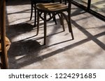 close up wooden chair legs with ... | Shutterstock . vector #1224291685