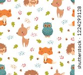 forest seamless pattern with... | Shutterstock .eps vector #1224293128