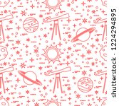 seamless pattern with telescope ... | Shutterstock .eps vector #1224294895