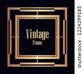 art deco vintage border  frame. ... | Shutterstock .eps vector #1224299185