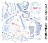 musical instruments continuous... | Shutterstock . vector #1224300865