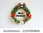 christmas wreath  isolate on... | Shutterstock . vector #1224300868