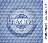 beacon blue polygonal badge. | Shutterstock .eps vector #1224303415