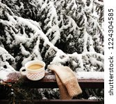 Winter Still Life With Cup Of...