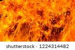 dangerous fire frames with... | Shutterstock . vector #1224314482