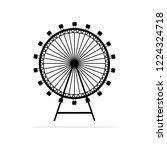 ferris wheel icon. vector... | Shutterstock .eps vector #1224324718