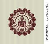 red ninja icon inside rubber...   Shutterstock .eps vector #1224328768