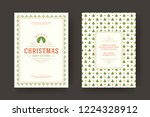 christmas greeting card design... | Shutterstock .eps vector #1224328912